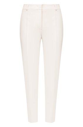 Женские брюки из смеси шелка и шерсти LORO PIANA белого цвета, арт. FAI5260 | Фото 1