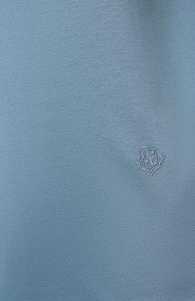 Женская хлопковая футболка LORO PIANA голубого цвета, арт. FAI5069 | Фото 5