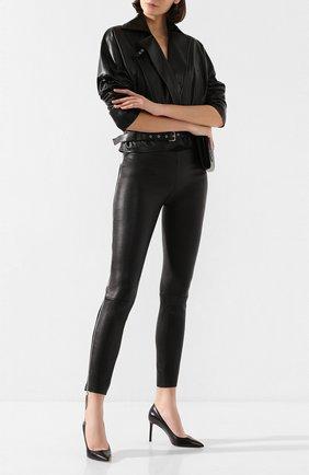 Женские кожаные брюки JITROIS черного цвета, арт. PANTAL0N HEAVEN SIMPLE AGNEAU STRETCH | Фото 2