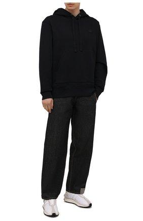 Мужской хлопковое худи ACNE STUDIOS черного цвета, арт. 2HK173/M | Фото 2
