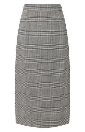 Женская шерстяная юбка ESCADA серого цвета, арт. 5032581 | Фото 1