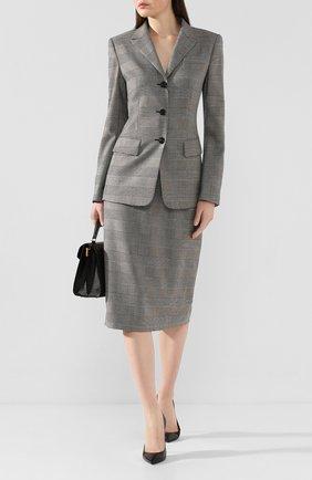 Женская шерстяная юбка ESCADA серого цвета, арт. 5032581 | Фото 2