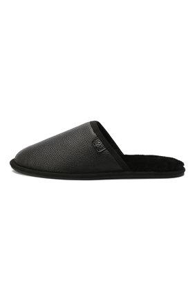 Мужского кожаные домашние туфли BOSS черного цвета, арт. 50423209 | Фото 3