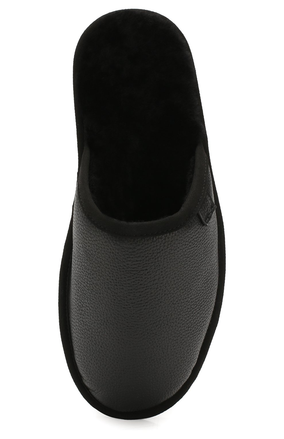 Мужского кожаные домашние туфли BOSS черного цвета, арт. 50423209 | Фото 5