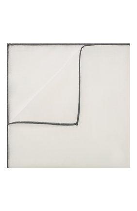 Мужской хлопковый платок TOM FORD белого цвета, арт. TFZ89/TF315 | Фото 1