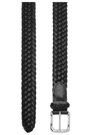 Мужской кожаный ремень RALPH LAUREN черного цвета, арт. 404168232 | Фото 2