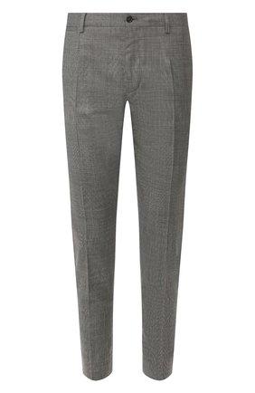 Мужские шерстяные брюки DOLCE & GABBANA темно-серого цвета, арт. GY6FET/FQBBJ | Фото 1