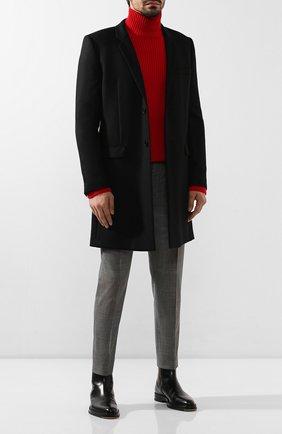 Мужские шерстяные брюки DOLCE & GABBANA темно-серого цвета, арт. GY6FET/FQBBJ | Фото 2
