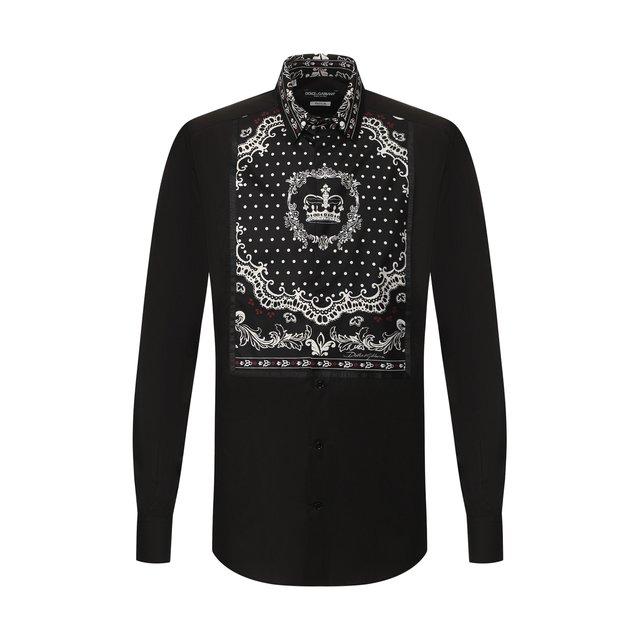 Рубашка из смеси хлопка и шелка Dolce & Gabbana