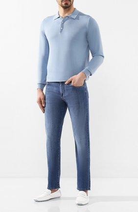 Мужские кожаные мокасины ALDO BRUE белого цвета, арт. AB0005J-VP | Фото 2