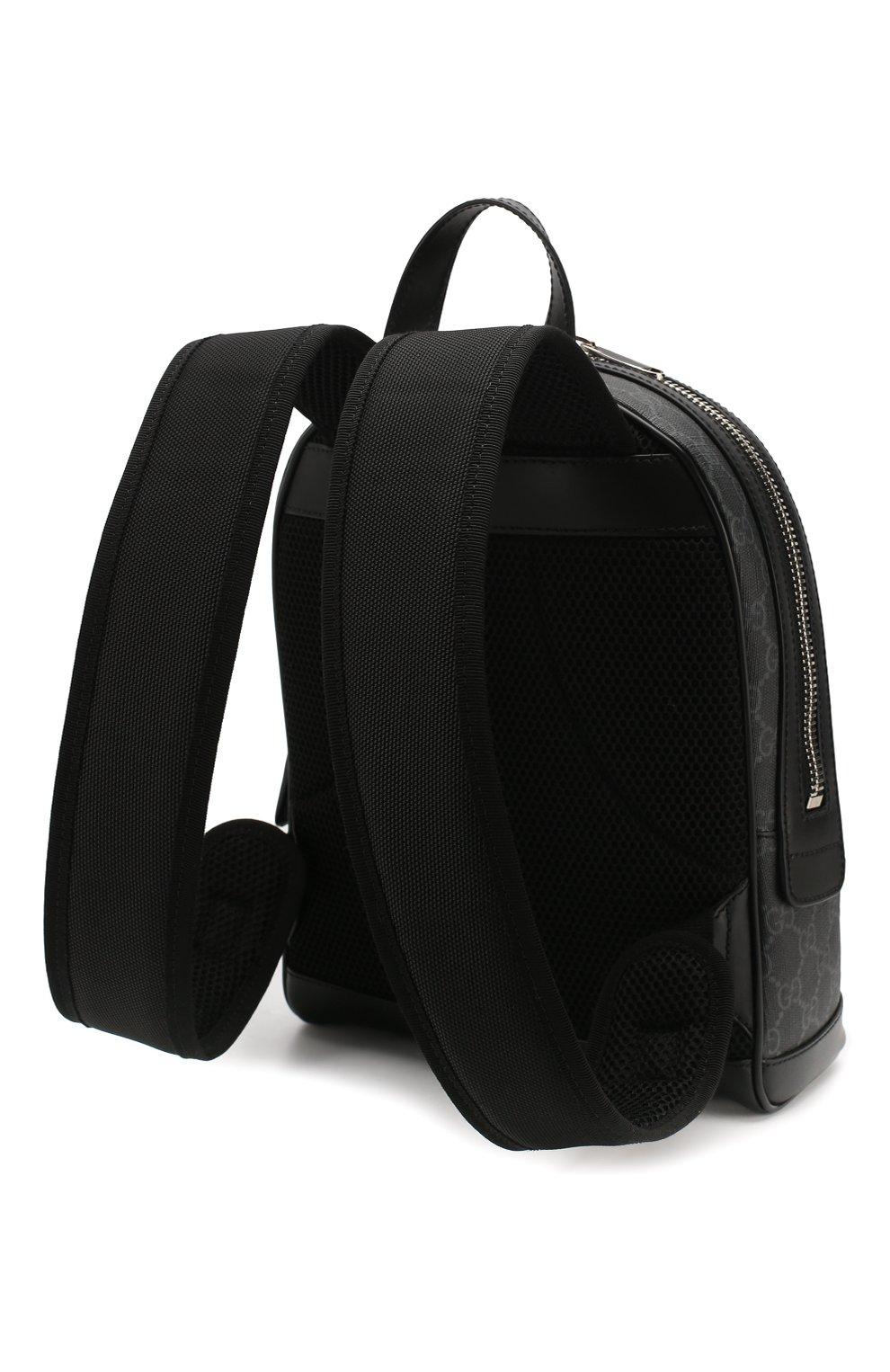 Мужской рюкзак gg supreme GUCCI темно-серого цвета, арт. 598102/92TAN | Фото 3