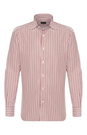 Мужская хлопковая сорочка ERMENEGILDO ZEGNA красного цвета, арт. 701214/9MS0BA | Фото 1