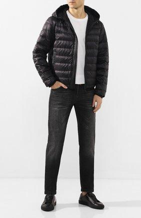 Мужская пуховая куртка rook MONCLER черного цвета, арт. F1-091-1A115-00-C0453 | Фото 2