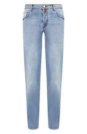 Мужские джинсы KITON голубого цвета, арт. UPNJS/J07S10 | Фото 1