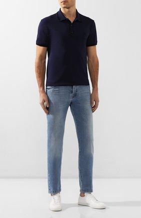 Мужские джинсы KITON голубого цвета, арт. UPNJS/J07S10 | Фото 2