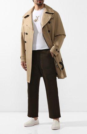 Мужские кожаные слипоны BOTTEGA VENETA белого цвета, арт. 608751/VT031 | Фото 2