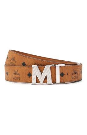 Мужской ремень MCM коричневого цвета, арт. MXB ASVI17 | Фото 1