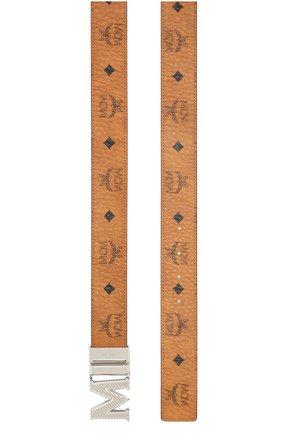 Мужской ремень MCM коричневого цвета, арт. MXB ASVI17 | Фото 2