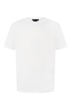 Мужская хлопковая футболка VERSACE белого цвета, арт. A85172/A228806 | Фото 1