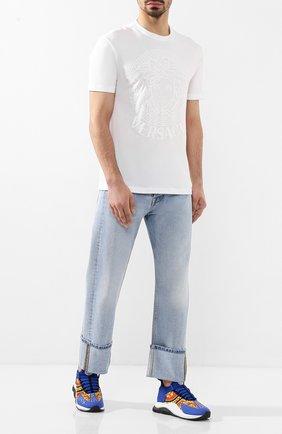 Мужская хлопковая футболка VERSACE белого цвета, арт. A85172/A228806 | Фото 2