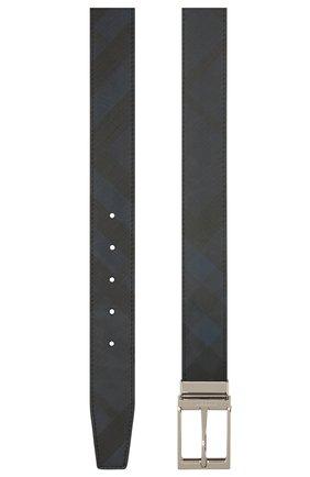 Мужской ремень BURBERRY темно-синего цвета, арт. 8024159 | Фото 2