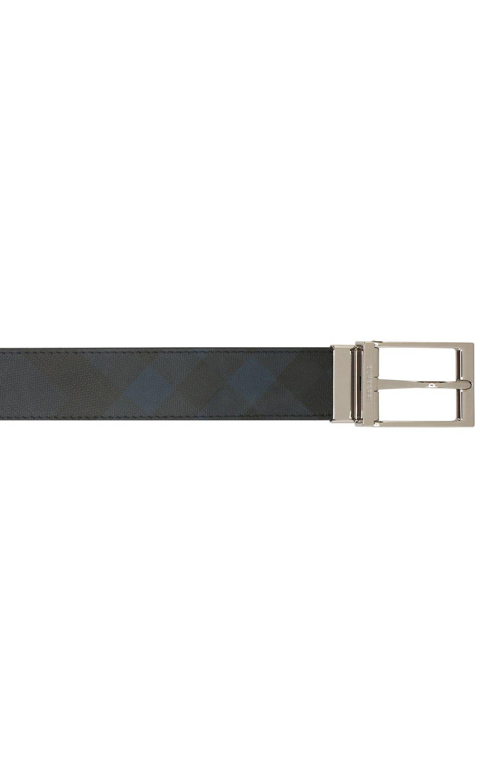 Мужской ремень BURBERRY темно-синего цвета, арт. 8024159   Фото 3