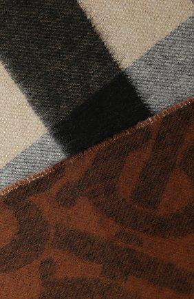 Мужской кашемировый шарф BURBERRY коричневого цвета, арт. 8022409 | Фото 2