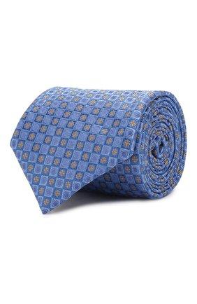 Мужской шелковый галстук CANALI голубого цвета, арт. 18/HJ02624   Фото 1
