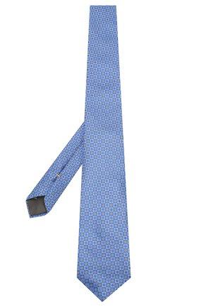 Мужской шелковый галстук CANALI голубого цвета, арт. 18/HJ02624   Фото 2