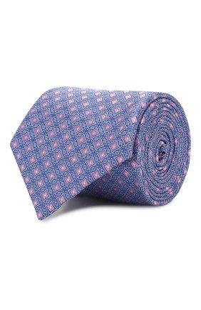 Мужской шелковый галстук CANALI голубого цвета, арт. 18/HJ02625   Фото 1