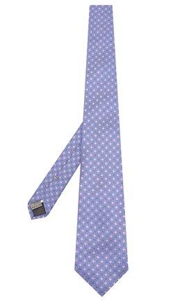 Мужской шелковый галстук CANALI голубого цвета, арт. 18/HJ02625   Фото 2