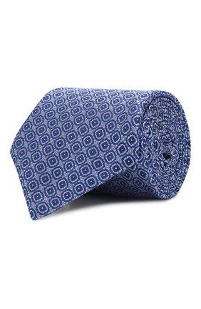 Мужской шелковый галстук CANALI синего цвета, арт. 18/HJ02626   Фото 1