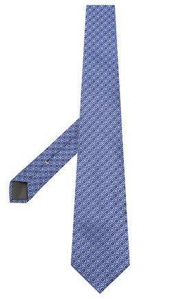 Мужской шелковый галстук CANALI синего цвета, арт. 18/HJ02626   Фото 2