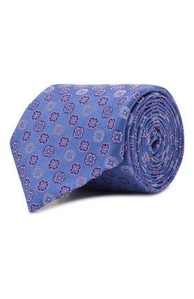 Мужской шелковый галстук CANALI синего цвета, арт. 18/HJ02629   Фото 1