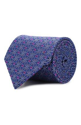 Мужской шелковый галстук CANALI темно-синего цвета, арт. 18/HJ02630   Фото 1