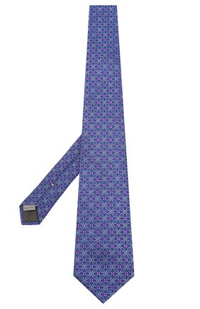 Мужской шелковый галстук CANALI темно-синего цвета, арт. 18/HJ02630   Фото 2