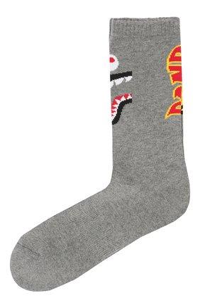 Мужские носки BAPE серого цвета, арт. 1F70183001 | Фото 1