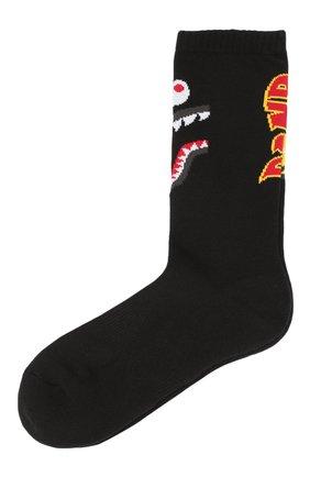 Мужские носки BAPE черного цвета, арт. 1F70183001 | Фото 1
