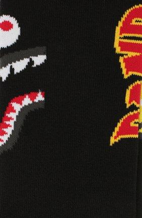 Мужские носки BAPE черного цвета, арт. 1F70183001 | Фото 2