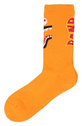 Мужские носки BAPE оранжевого цвета, арт. 1F70183001 | Фото 1