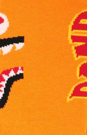 Мужские носки BAPE оранжевого цвета, арт. 1F70183001 | Фото 2