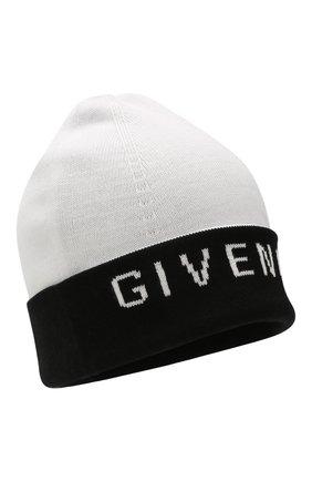 Мужская шапка из смеси хлопка и кашемира GIVENCHY черно-белого цвета, арт. GVCAPP/U1722 | Фото 1