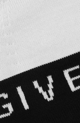 Мужская шапка из смеси хлопка и кашемира GIVENCHY черно-белого цвета, арт. GVCAPP/U1722 | Фото 3