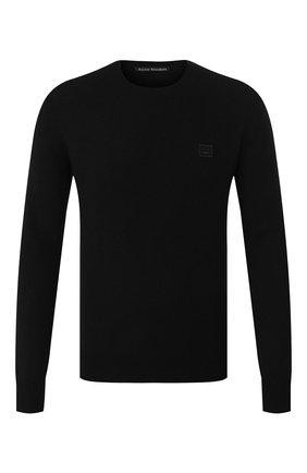 Мужской шерстяной джемпер ACNE STUDIOS черного цвета, арт. C60016/M | Фото 1