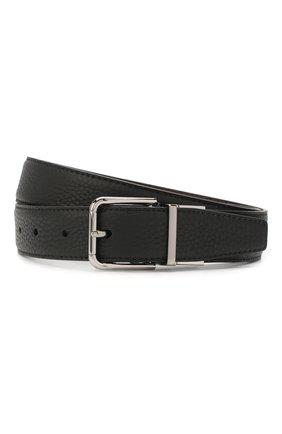Мужской кожаный ремень DOLCE & GABBANA черного цвета, арт. BC4263/AX342 | Фото 1