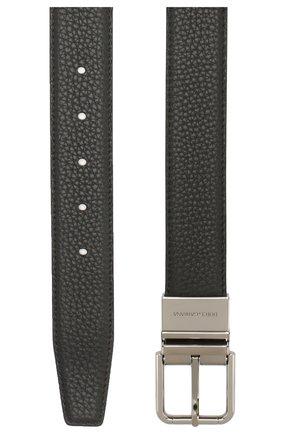 Мужской кожаный ремень DOLCE & GABBANA черного цвета, арт. BC4263/AX342 | Фото 2