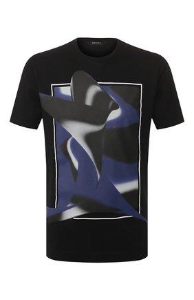 Мужская хлопковая футболка Z ZEGNA черного цвета, арт. VU372/ZZ630L | Фото 1