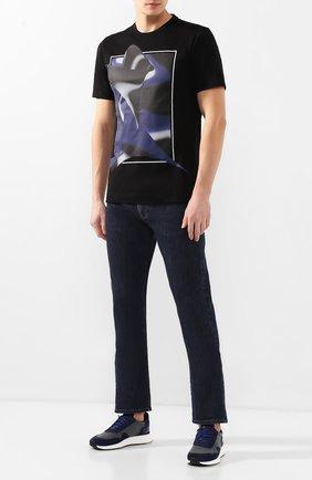 Мужская хлопковая футболка Z ZEGNA черного цвета, арт. VU372/ZZ630L | Фото 2
