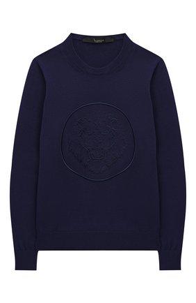 Детский хлопковый пуловер BILLIONAIRE темно-синего цвета, арт. B20C BKO0138 BKN004N | Фото 1
