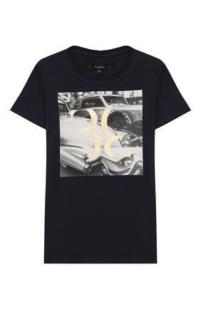 Детская хлопковая футболка BILLIONAIRE темно-синего цвета, арт. B20C BTK0886 BTE014N | Фото 1